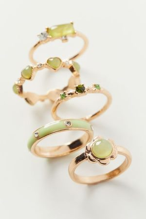 Urban Outfitters Women Rings - Marsha Flower Ring Set