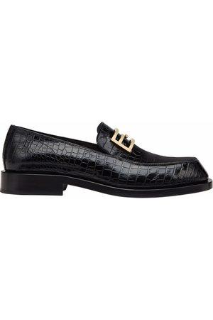 Fendi Men Loafers - FF Baguette-motif loafers