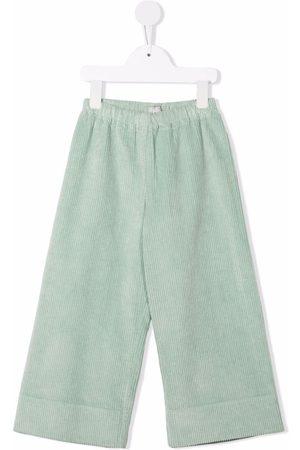 Il gufo Girls Wide Leg Pants - Corduroy wide-leg trousers