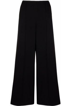 ALYSI Women Straight Leg Pants - Pintuck-detail straight trousers