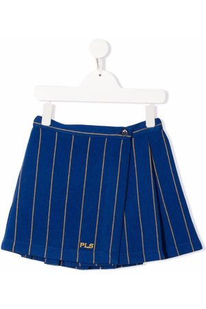 PHILOSOPHY DI LORENZO SERAFINI Girls Printed Skirts - Stripe-print wrap skirt