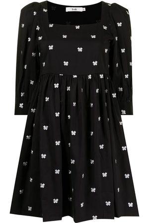 B+AB Women Dresses - Embroidered square-neck dress