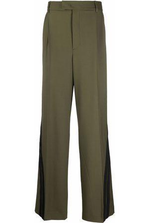 Msgm Men Wide Leg Pants - Striped wide-leg trousers