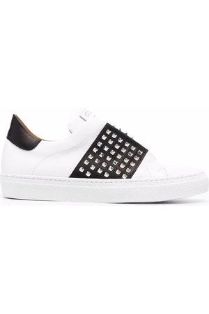 Via Roma Women Sneakers - Stud-embellished leather sneakers