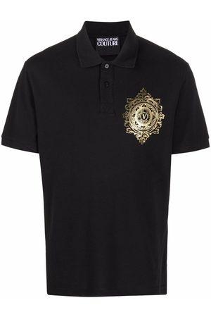 VERSACE Logo-print polo shirt