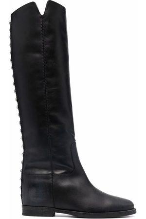 Via Roma Stud-embellished leather boots