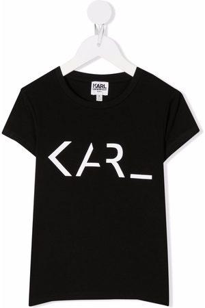 Karl Lagerfeld Girls Short Sleeve - Logo-print short-sleeved T-shirt