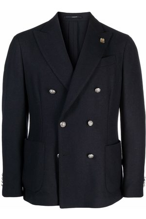LARDINI Men Blazers - Double-breasted tailored blazer
