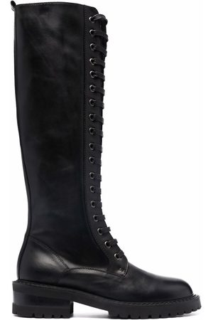 Via Roma Women Thigh High Boots - Lace-up knee-high boots