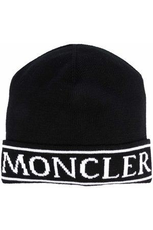 Moncler Logo-print knitted beanie