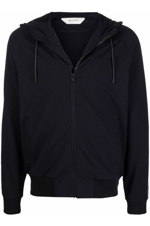 Z Zegna Zip-up drawstring hoodie - B09