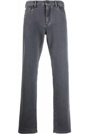 Ermenegildo Zegna Men Straight - Mid-rise straight jeans - Grey