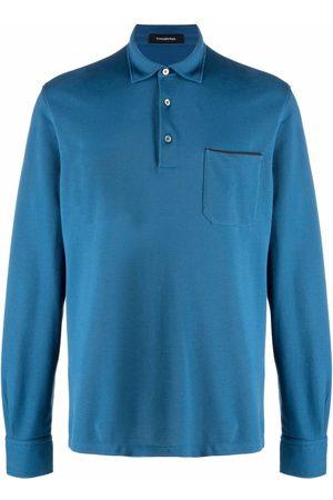 Ermenegildo Zegna Long-sleeve cotton polo shirt