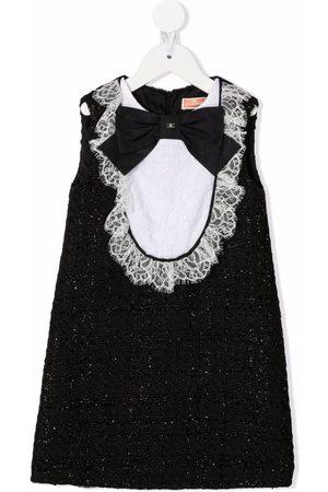 Elisabetta Franchi La Mia Bambina Boys Bow Ties - Lace-trim bow-tie dress