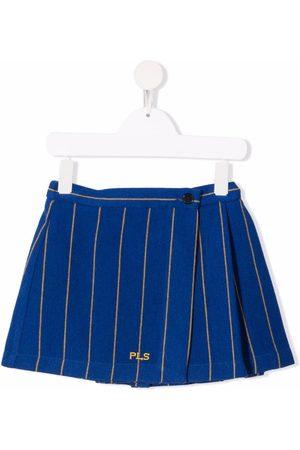 PHILOSOPHY DI LORENZO SERAFINI Girls Printed Skirts - Pinstripe-print mini skirt