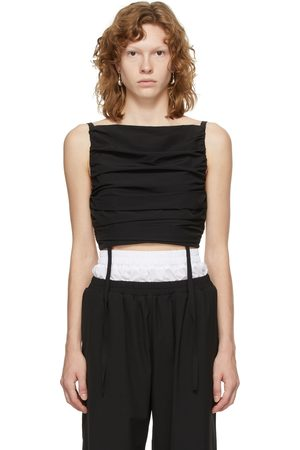Markoo Women Camisoles - Cropped Self-Tie Camisole