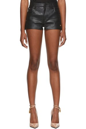 Tom Ford Women Shorts - Black Lacquered Denim Shorts