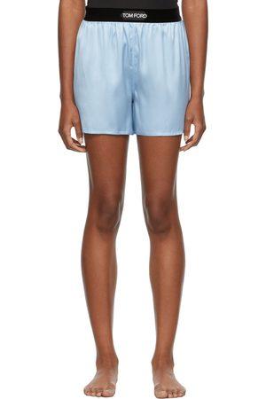 Tom Ford Women Pajamas - Blue Silk PJ Shorts