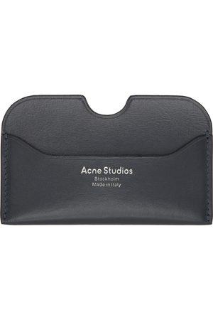 Acne Studios Navy Logo Card Holder