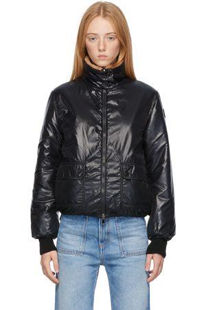 Moncler Women Puffer Jackets - Reversible Black & Brown Adoxe Puffer