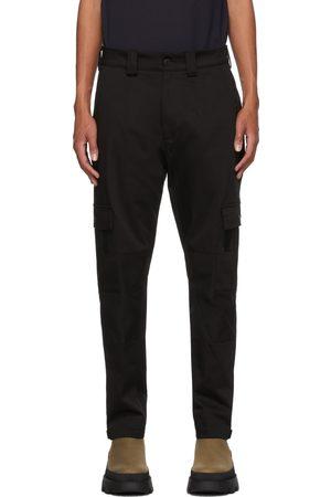 Moncler Men Cargo Pants - Black Tapered Cargo Pants