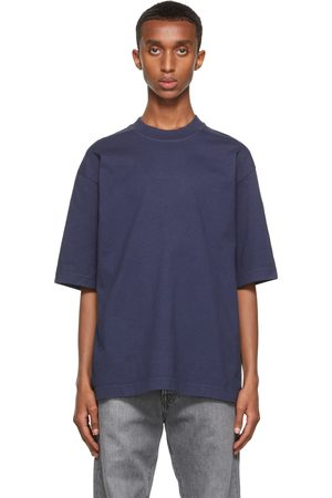 Acne Studios Men Sweatshirts - Navy Printed T-Shrit