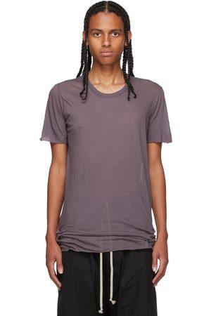 Rick Owens Men Short Sleeve - Purple Basic Short Sleeve T-Shirt