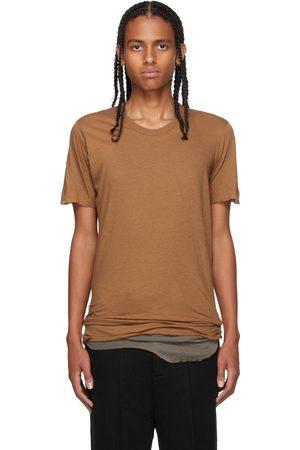 Rick Owens Men Short Sleeve - Brown Basic Short Sleeve T-Shirt