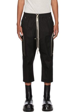 Rick Owens Men Cargo Pants - Black Bauhaus Bela Cargo Pants