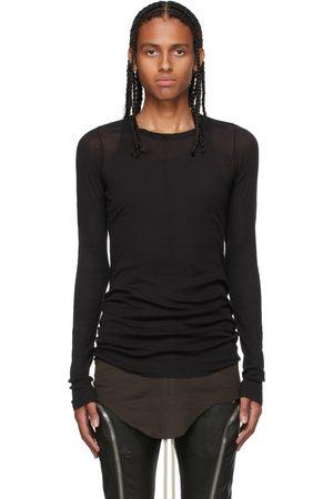Rick Owens Men Long Sleeve - Black Rib Long Sleeve T-Shirt
