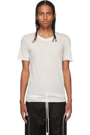 Rick Owens White Basic Short Sleeve T-Shirt