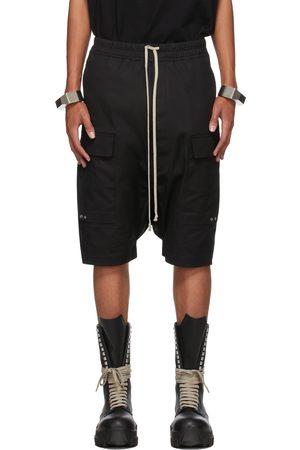 Rick Owens Men Shorts - Black Cargo Pods Shorts