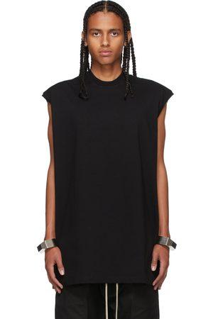 Rick Owens Men Tank Tops - Black Tarp Sleeveless T-Shirt