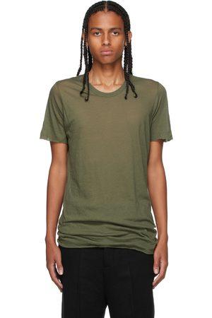 Rick Owens Men Short Sleeve - Green Basic Short Sleeve T-Shirt