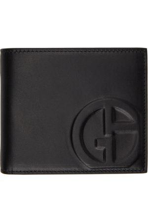 Armani Black Leather Bifold Logo Wallet