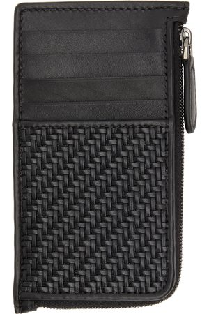 Ermenegildo Zegna Men Wallets - Black Pelletessuta Zip Card Holder