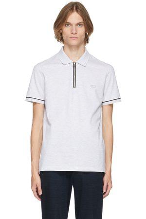 Salvatore Ferragamo Men Polo Shirts - Grey Logo Polo