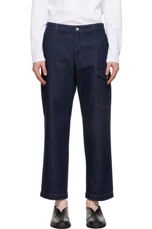 BARENA Men Cargo Pants - Navy Cargo Jeans