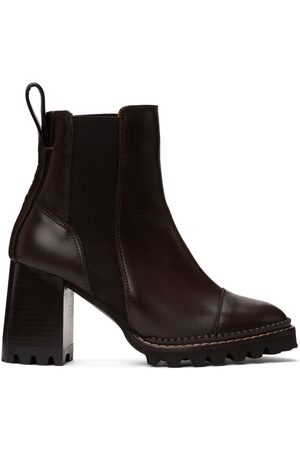 See by Chloé Women Heeled Boots - Brown Mallory Heeled Boots