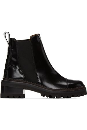 See by Chloé Women Ankle Boots - Black Leather Mallory Ankle Boots