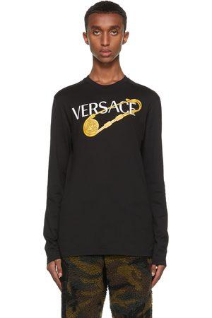 VERSACE Men Long Sleeve - Black Pin Long Sleeve T-Shirt