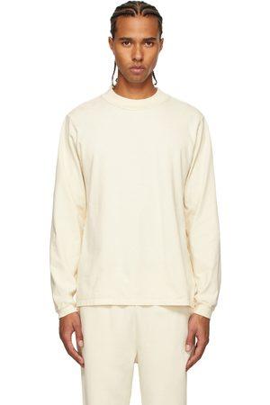 Les Tien Men Long Sleeve - Off-White Heavyweight Mock Neck Long Sleeve T-Shirt