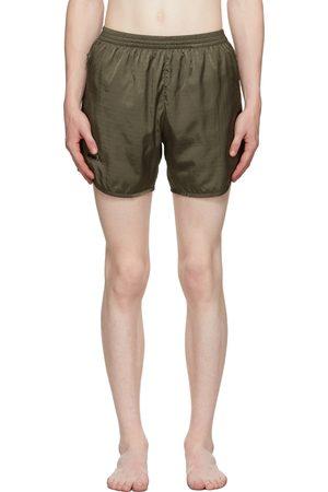 TRUE TRIBE Men Swim Shorts - Khaki Wild Steve Swim Shorts
