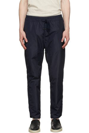 FEAR OF GOD Men Sweatpants - Navy Nylon Track Pants