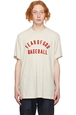 FEAR OF GOD Men Shirts - Beige 'Baseball' Shirt