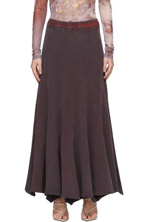 Y / PROJECT Women Maxi Skirts - Purple Flare Panel Maxi Skirt