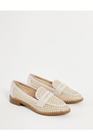 ASOS Mail loafers in natural fabrication-Neutral