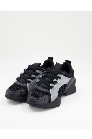 ASOS Direction mesh lace up sneakers in