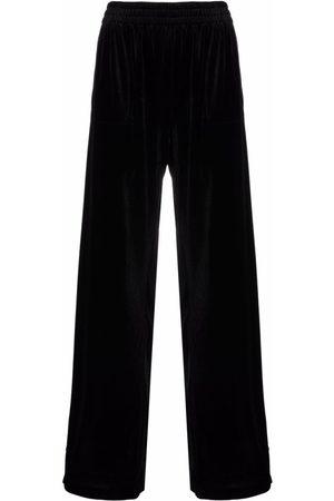 Norma Kamali Side-Stripe Straight Trousers