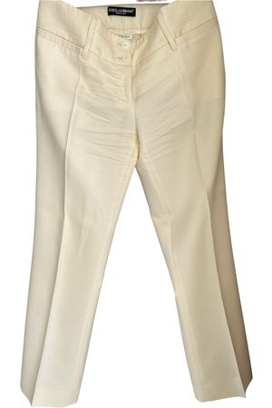 Dolce & Gabbana Women Straight Leg Pants - Silk straight pants